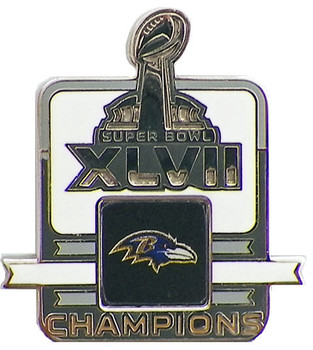 Baltimore Ravens Super Bowl XLVII (47) Champions Pin - 1