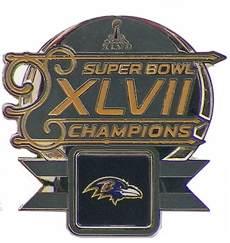 Baltimore Ravens Super Bowl XLVII (47) Champions Pin - 2