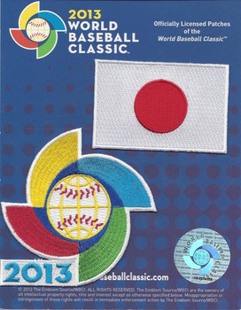 Japan 2013 World Baseball Classic 2 Patch Set