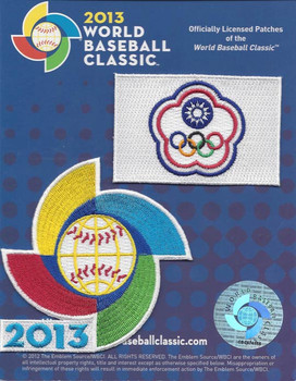 Chinese Taipei 2013 World Baseball Classic 2 Patch Set