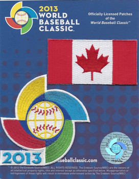 Canada 2013 World Baseball Classic 2 Patch Set