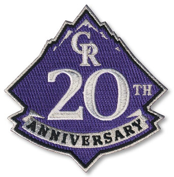 Colorado Rockies 20th Anniversary Patch