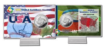 USA 2013 World Baseball Classic Silver Coin Card