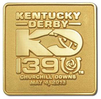 2013 Kentucky Derby 139 Logo Pin - Two Tone Gold