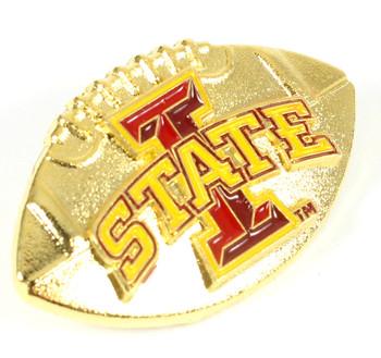 Iowa State 3-D Football Pin