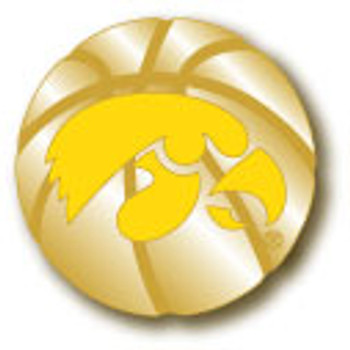 Iowa 3-D Basketball Pin