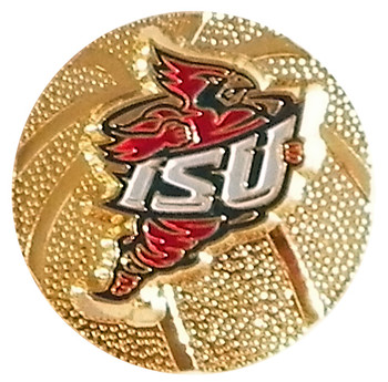 Iowa State 3-D Basketball Pin
