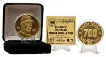 Barry Bonds 700th Home Run Commemorative 24KT Gold Coin
