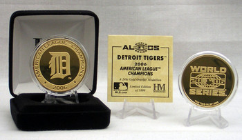 Detroit Tigers 2006 A.L Champs Gold Coin, Ltd. Ed. of 5,000