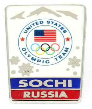 Sochi 2014 Olympics Landscape Snowflake Pin