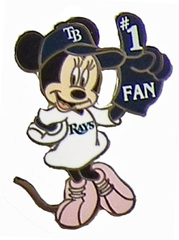 Tampa Bay Rays Minnie Mouse #1 Fan Disney Pin