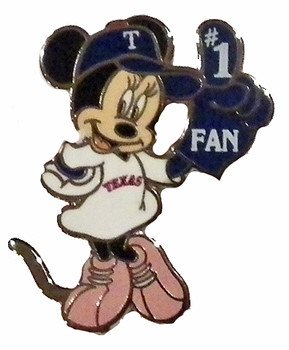 Texas Rangers Minnie #1 Fan Disney Pin