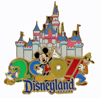 2007 Walt Disneyland Double Pin - Mickey Mouse
