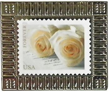 Wedding Roses Stamp Pin