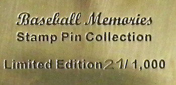 Ted Williams Baseball Memories Stamp Pin - Limited 1,000