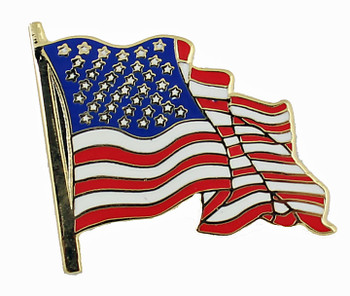 American Flag Pin - Waving Style