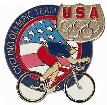 USA Olympics Team Cycling Pin