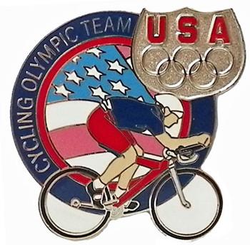 USA Olympics Team Cycling Pin
