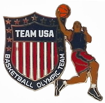 Team USA Basketball Crest Pin