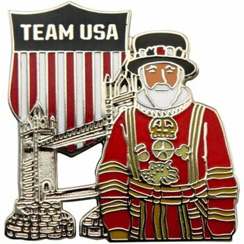 Team USA Tower Bridge & Yeoman Beefeater Pin