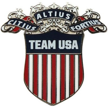Team USA Olympic Motto Crest Pin
