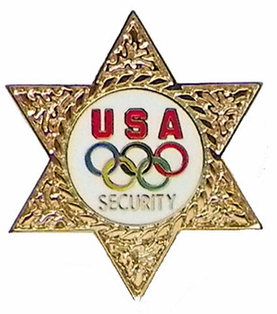 USOC Five Rings Security Pin