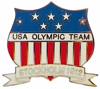 1912 Stockholm Olympics Five Rings Pin