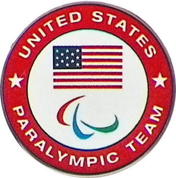 USOC Five Rings Paralympic Logo Pin