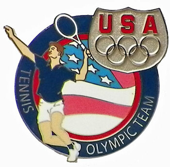 USA Tennis Olympic Team Pin