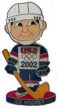 2002 USA Hockey Team Bobble Head Pin