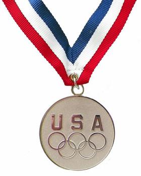 USA Five Rings Silver Medal Medallion