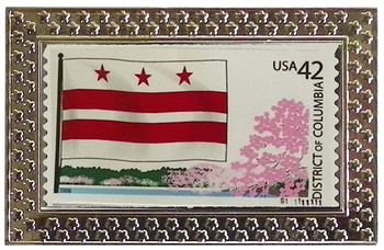 District of Columbia Stamp Pin