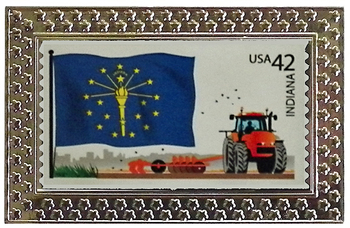 State of Indiana Stamp Pin