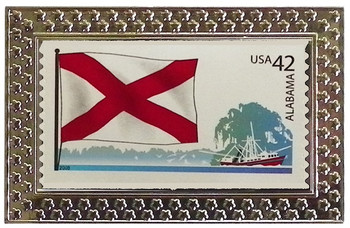 State of Alabama Stamp Pin