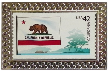 State of California Stamp Pin
