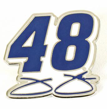 Jimmie Johnson #48 Pin - Blue