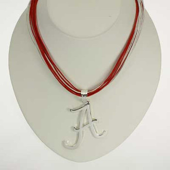 "Alabama Logo Multi-Cord 18"" Necklace + Extender"