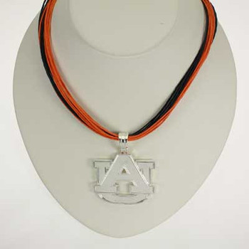 "Auburn Logo Multi-Cord 18"" Necklace"