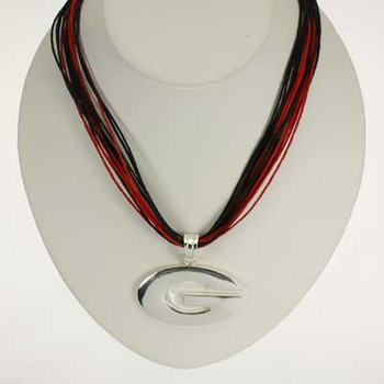 "Georgia Logo Multi-Cord 18"" Necklace"
