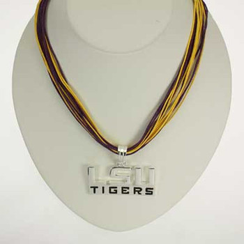 "LSU Logo Multi-Cord 18"" Necklace"