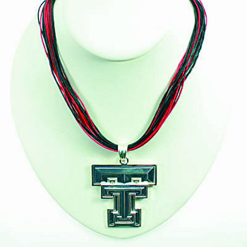 "Texas Tech Logo Multi-Cord 18"" Necklace"