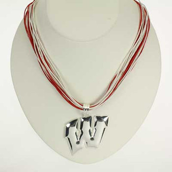 "Wisconsin Logo Multi-Cord 18"" Necklace"