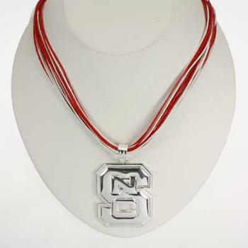"""North Carolina State Logo Multi-Cord 18"""" Necklace"""