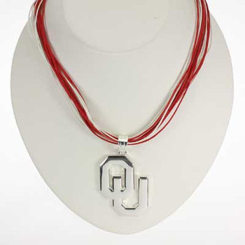 "Oklahoma Logo Multi-Cord 18"" Necklace"