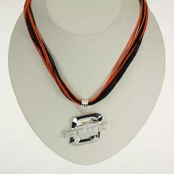 "Oklahoma State Logo Multi-Cord 18"" Necklace"