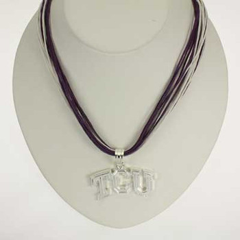 "TCU Logo Multi-Cord 18"" Necklace"