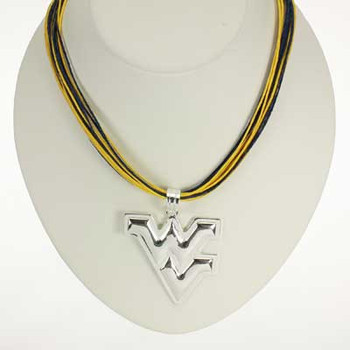 "West Virginia Logo Multi-Cord 18"" Necklace"