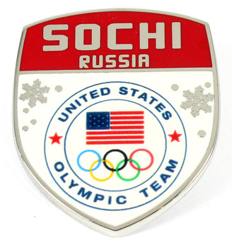 Sochi 2014 Team USA Olympics Crest Pin