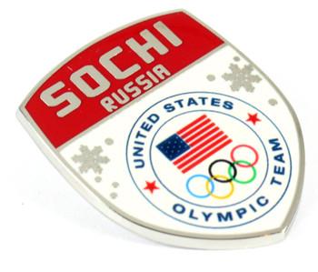 Sochi 2014 Team USA Olympics Crest Snowflake Pin