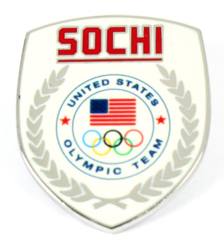 Sochi 2014 Olympics Team USA Crest Pin